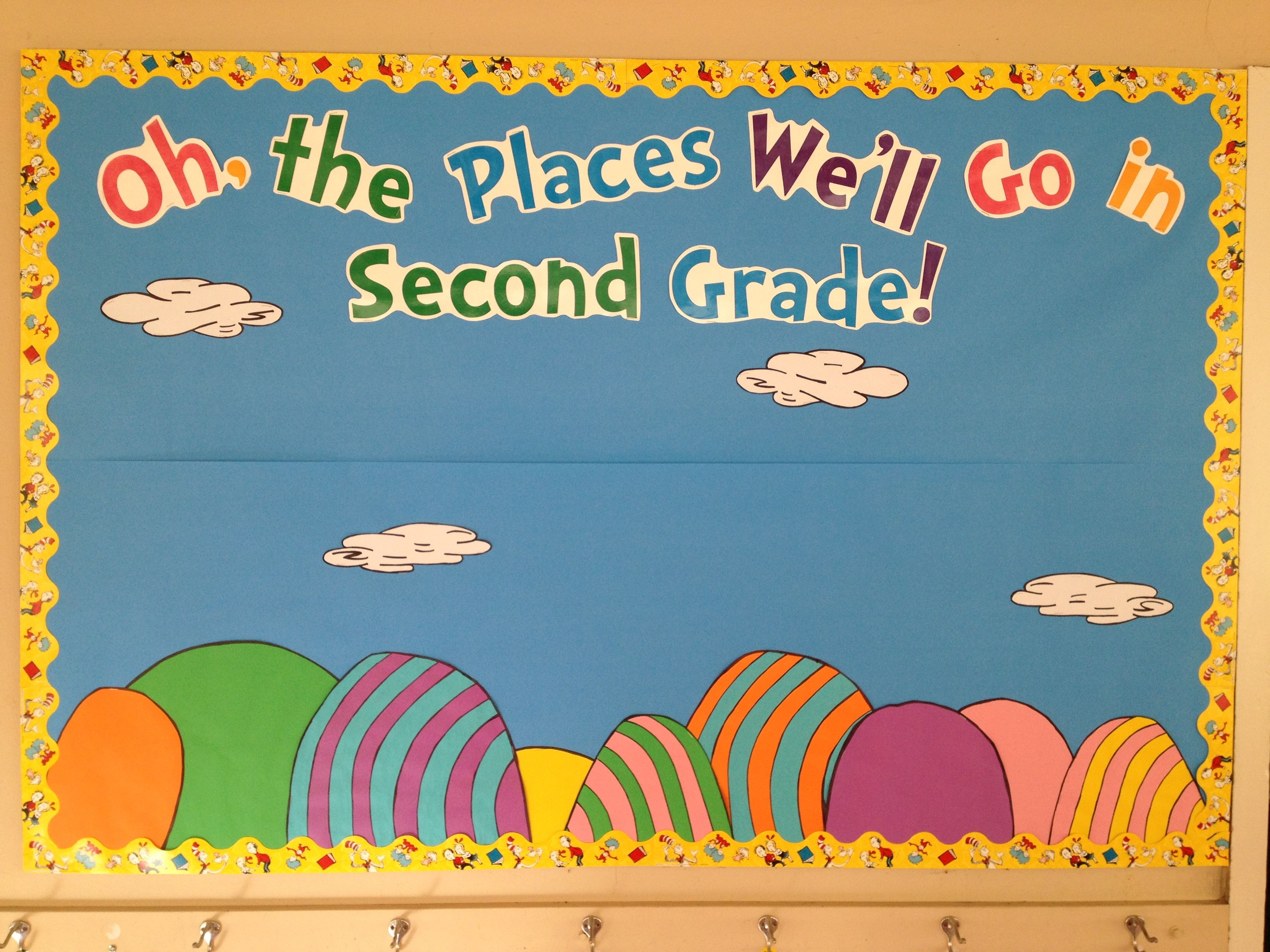 Oh the places youll go Dr Seuss themed welcome bulletin board – Oh the Places You Ll Go Worksheets