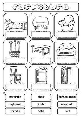 30 Ejercicios Y Vocabulario De Las Partes De La Casa Y Objetos De