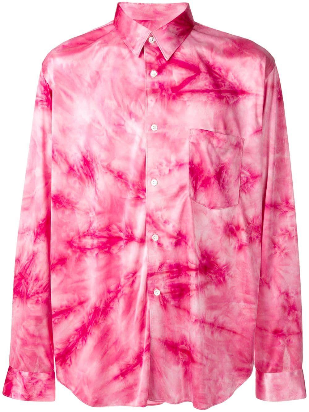 1de003904fa COMME DES GARÇONS HOMME DEUX COMME DES GARÇONS HOMME PLUS TIE-DYE SHIRT -  PINK. #commedesgarçonshommedeux #cloth