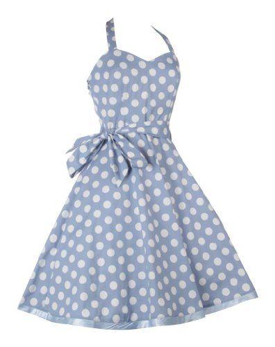 Vintage 1950er Polka Dot Kleider Rockabilly Neckholder Pin Up Tea ...