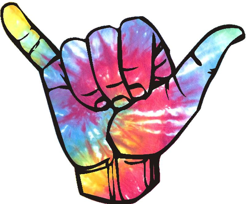 Bright Tie Dye Shaka Stickers 16 17 Stickers
