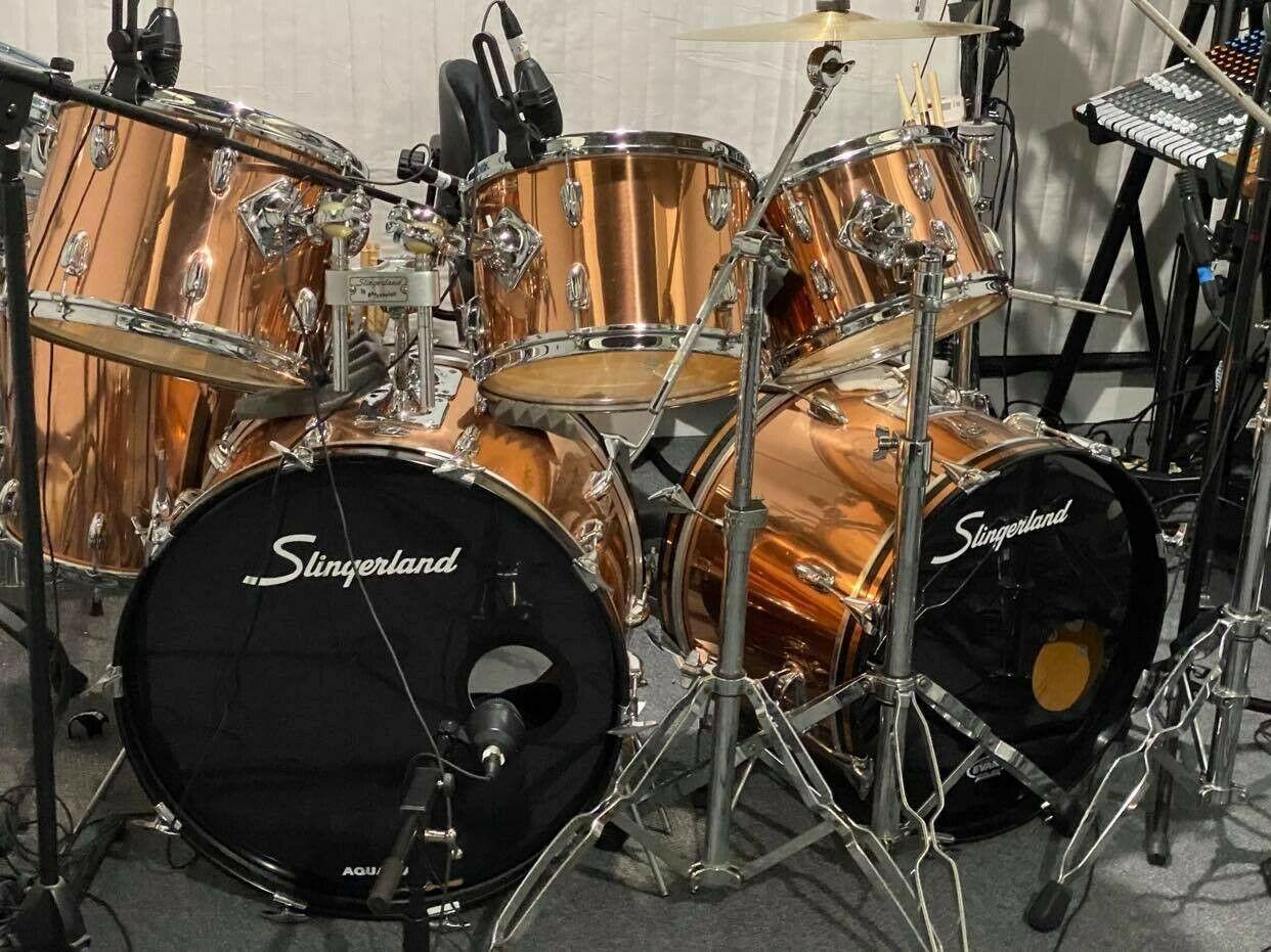 slingerland 8 pc copper double bass kit