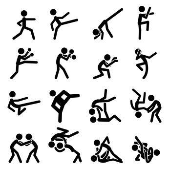Martial Arts Boards Drawing