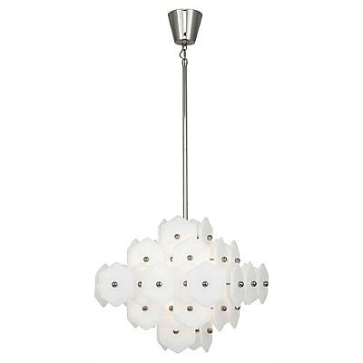 Vienna Small Chandelier - Polished Nickel