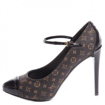66da13e54a74 Louis Vuitton Dark Brown Romance Idylle Pumps Size US 6 Regular (M