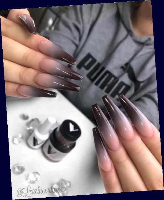 Crystal Clear Coffin Nail Designs for Girls – Nail Art Ideas 2020