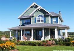 Haus bauen amerikanischer stil  amerikanisches Haus Fertighaus bauweise amerikanisch bauen Baustil ...