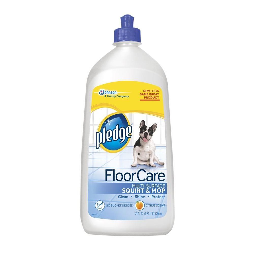 27 Oz Citrus Scent Multi Surface Floor Cleaner 6 Pack Pledge Floor Care Floor Care