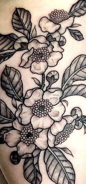 Camellia Sinensis Flower Tattoo Sleeve Lace Tattoo Flower Sleeve