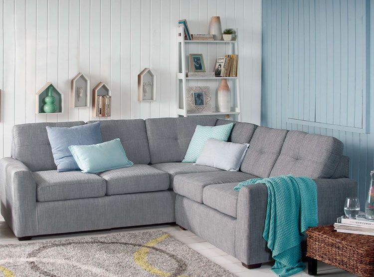 Sill n en ele colores gris y celeste la casa de mis for Muebles de sala color gris