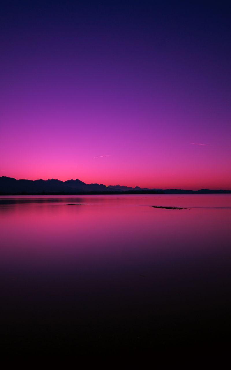 Pink Blue Sky Sunset Lake Silhouette Wallpaper Landscape Photography Nature Landscape Photography Landscape Wallpaper