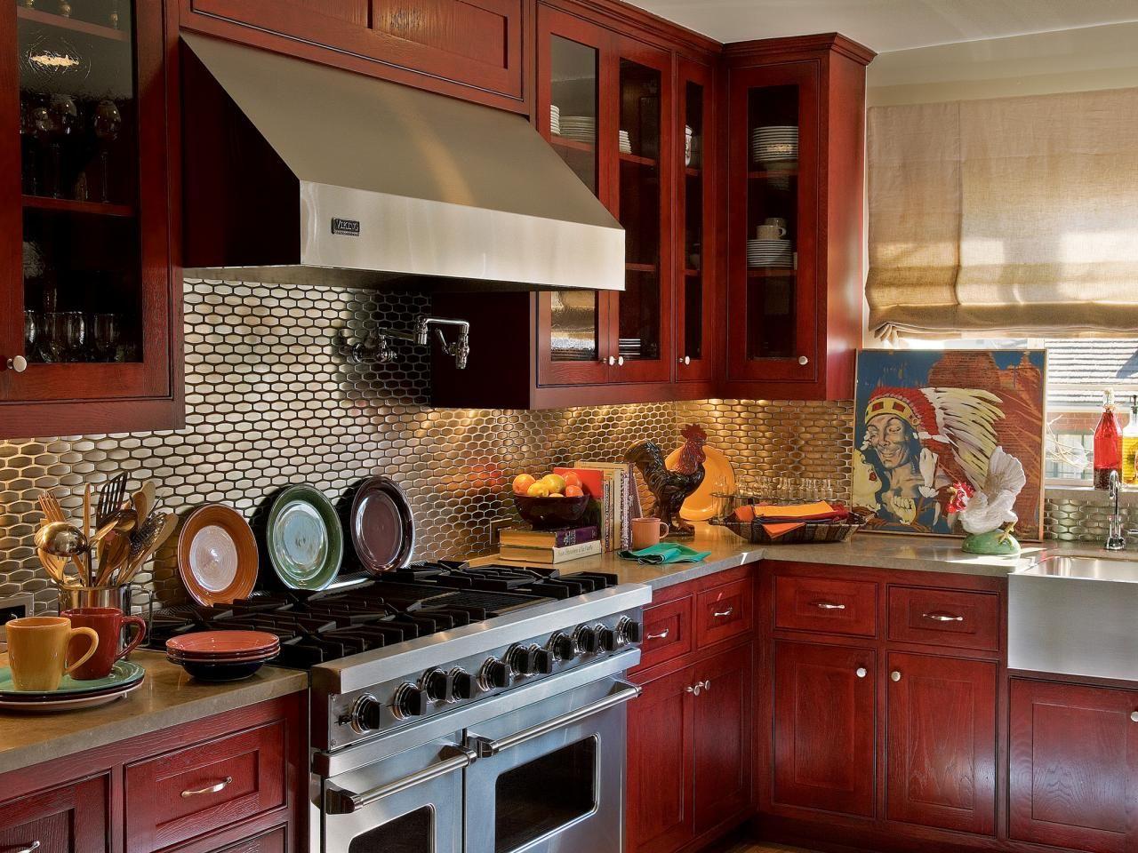 Rot Küche Schränke | Küche | Pinterest | Rote küche, Schränkchen und ...