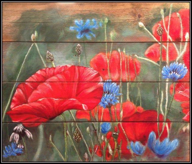 Fonkelnieuw bloemen op hout schilderen - Google zoeken | Bloemen schilderen NL-82