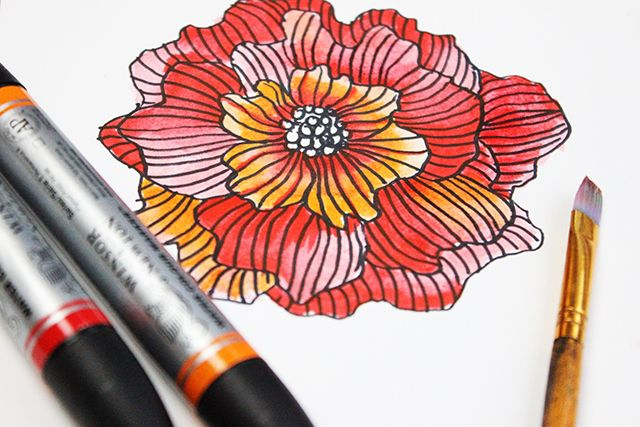 Playing With Watercolor Markers Watercolor Alisa Burke