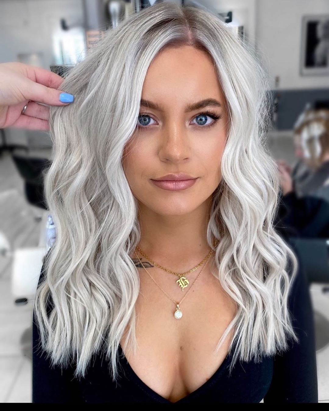 50 Best Hairstyle Ideas Royal Follow In 2020 Silver Blonde Hair Hair Styles Icy Blonde Hair