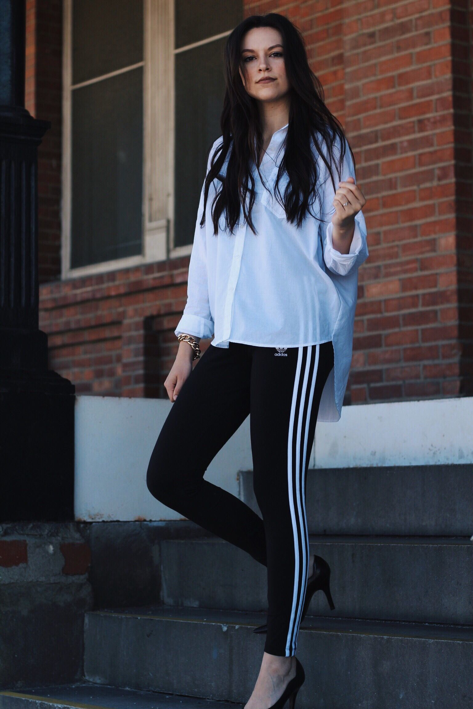 Adidas Leggings Adidas Leggings Fashion Long Sleeve Blouse