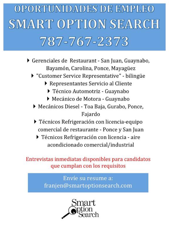 Sí Hay Oportunidades De Empleo Envía Resume A Franjen Smartoptionsearch Com Job Inbox Screenshot