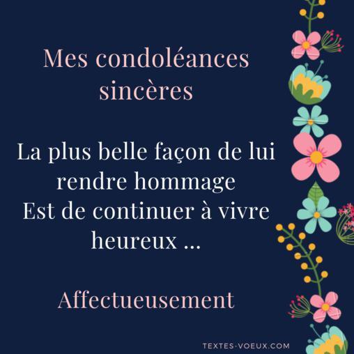 Belle Carte Texte Condoléances Maman Dune Amie Ou Mère Dun