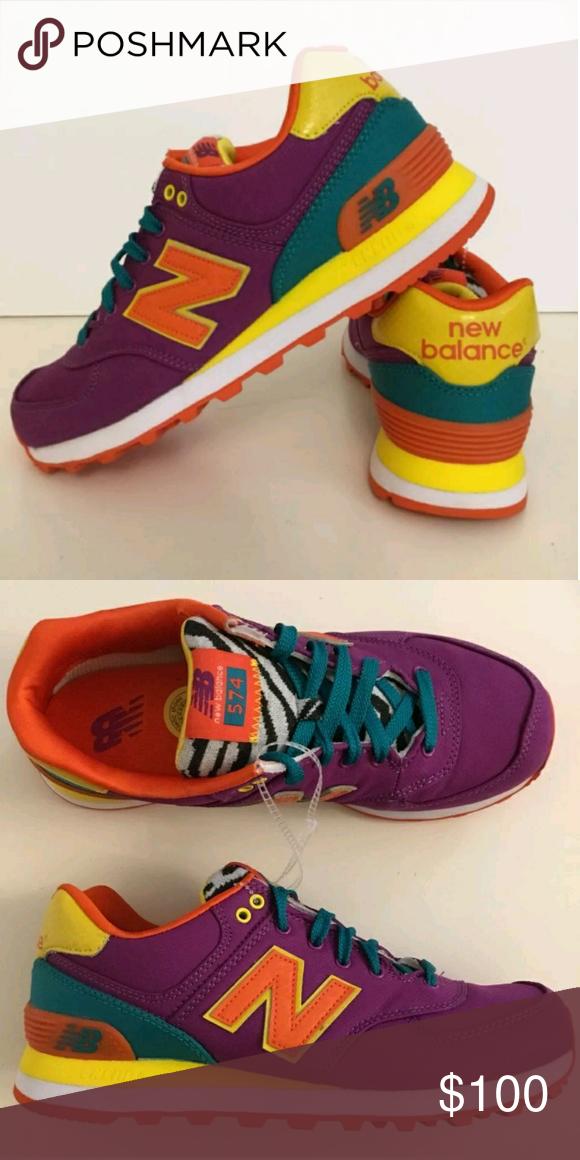 big sale d58b9 297c5 New Balance WL574PY Sneakers 7.5 Pop Safari Shoes New Balance WL574PY  Sneakers Pop Safari Colorful 90s