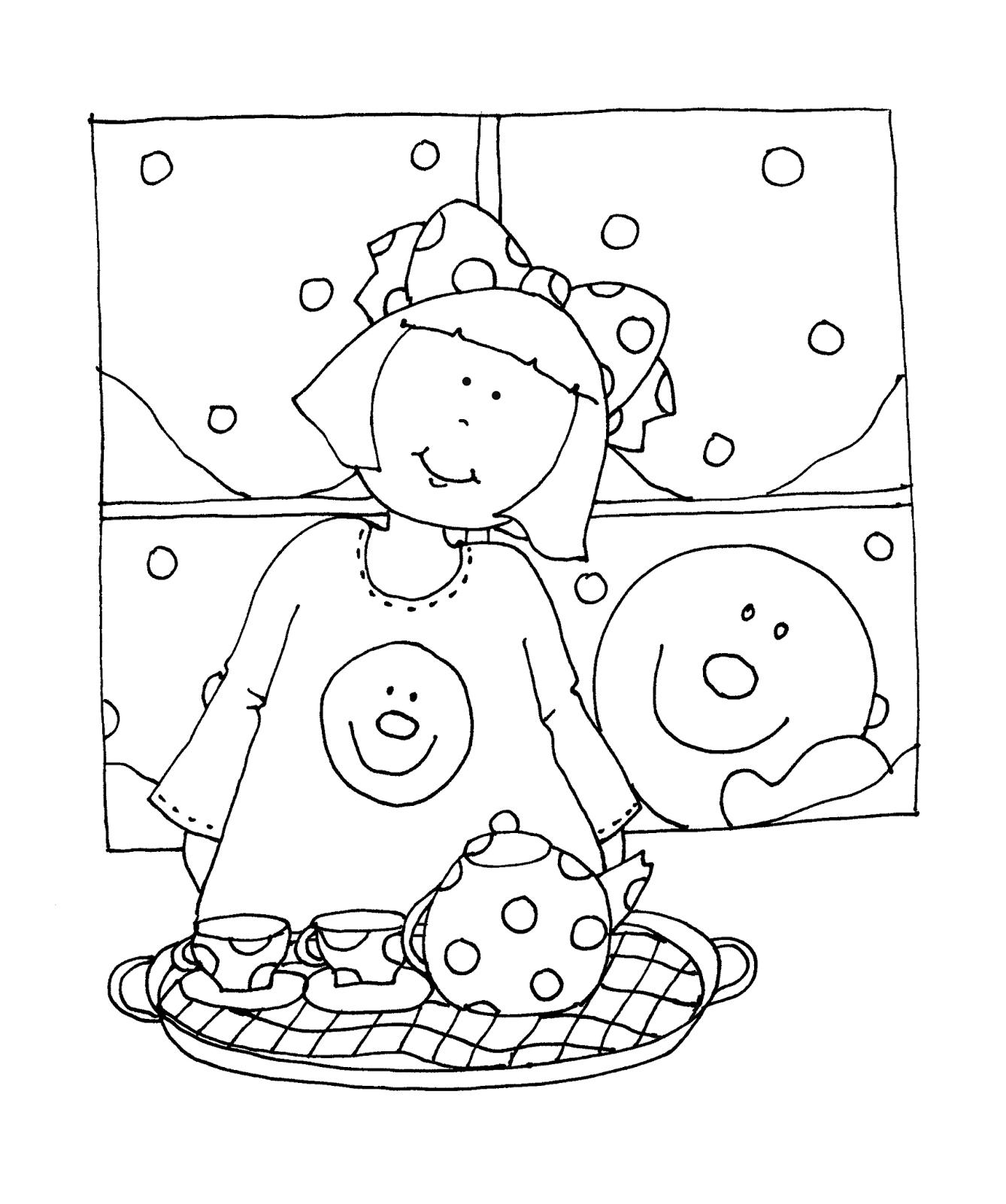 Free Dearie Dolls Digi Stamps: Snowman Tea Party | Dearie Dolls 2 ...