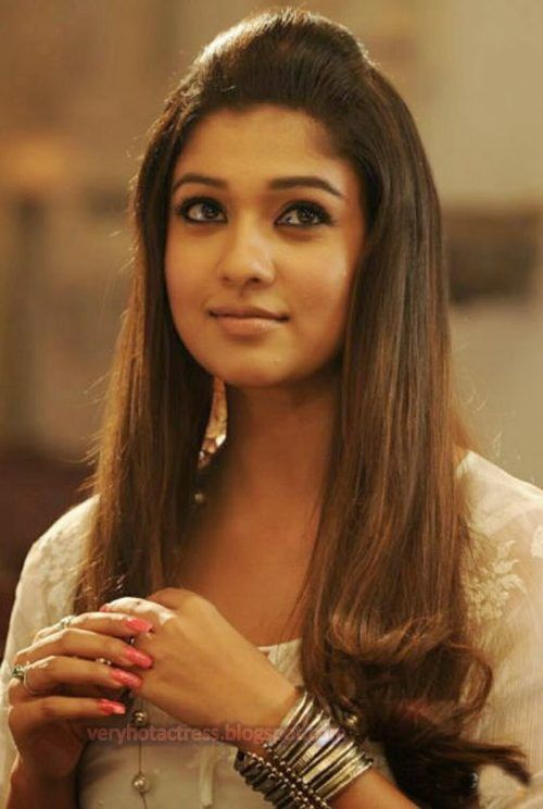 Nayanthara With Puff And Loose Locks My Girl Pinterest
