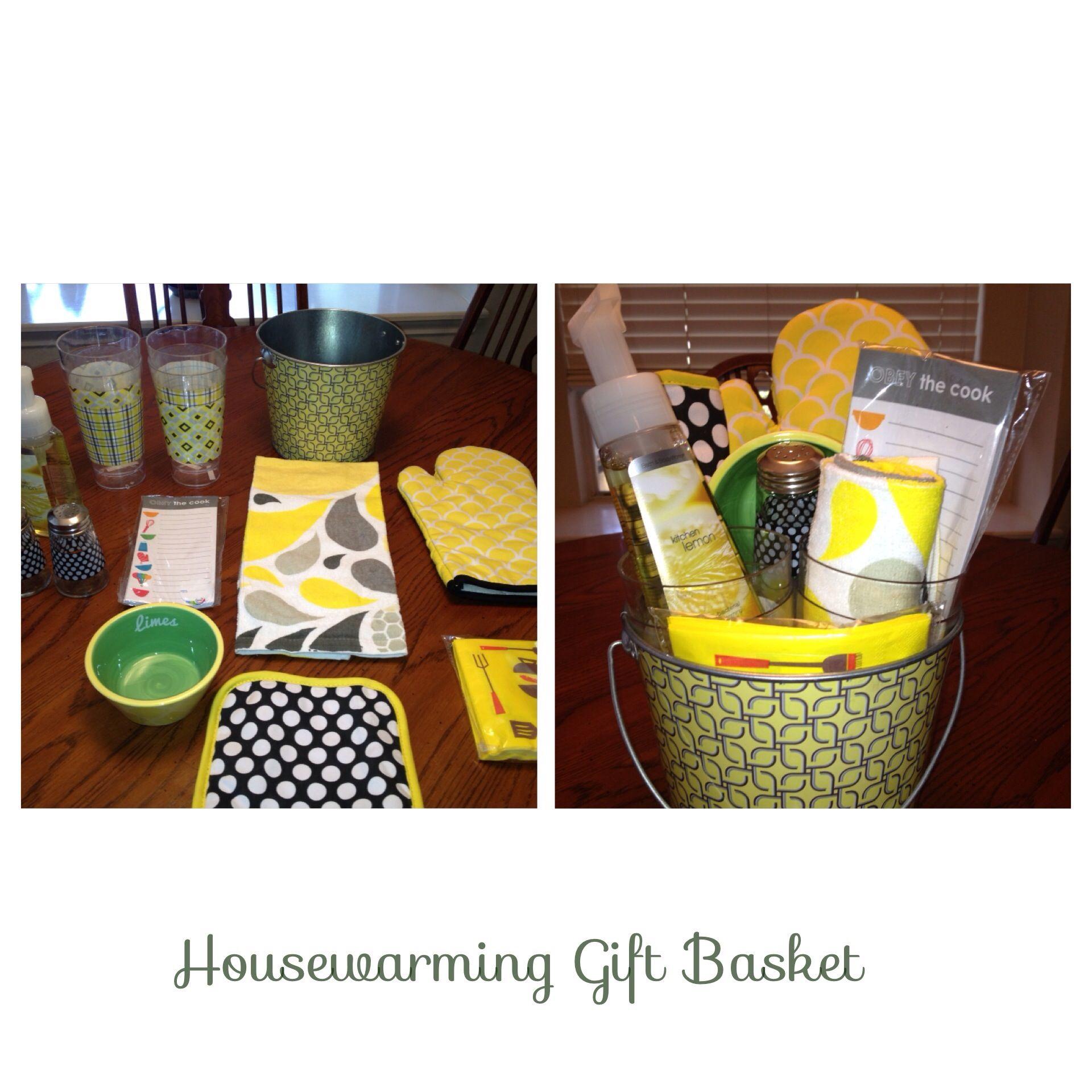 Housewarming gift basket via hobby lobby target bath