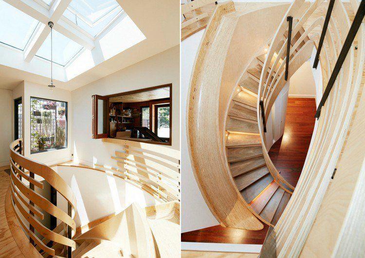 maison avec toboggan en bois massif pour rejoindre l 39 tage inf rieur et ambiance cosy dreams. Black Bedroom Furniture Sets. Home Design Ideas