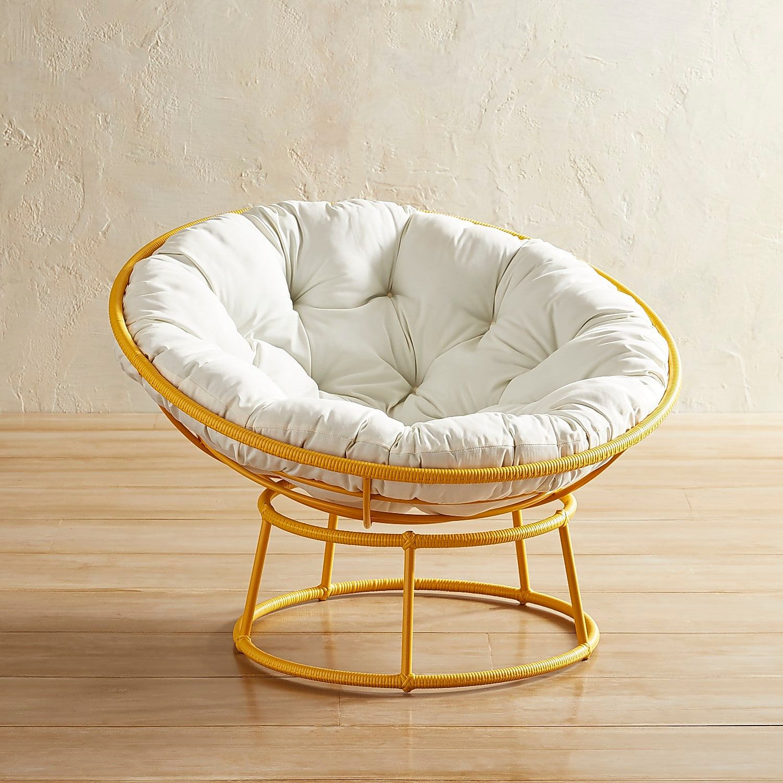Yellow Outdoor Papasan Chair Frame - Papasan Chair, Wrought Iron