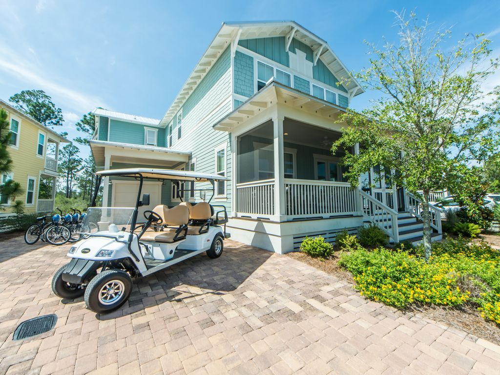 6 seater golf cart very close to seaside 2500 sq ft