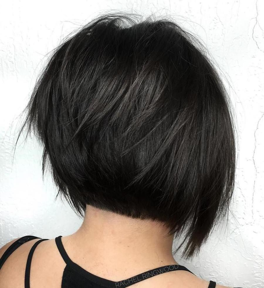 Layered black bob hairstyles recommend dress for summer in 2019