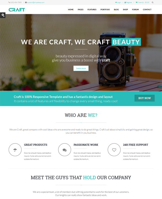 25 of the Best Parallax Drupal Themes Drupal, Theme