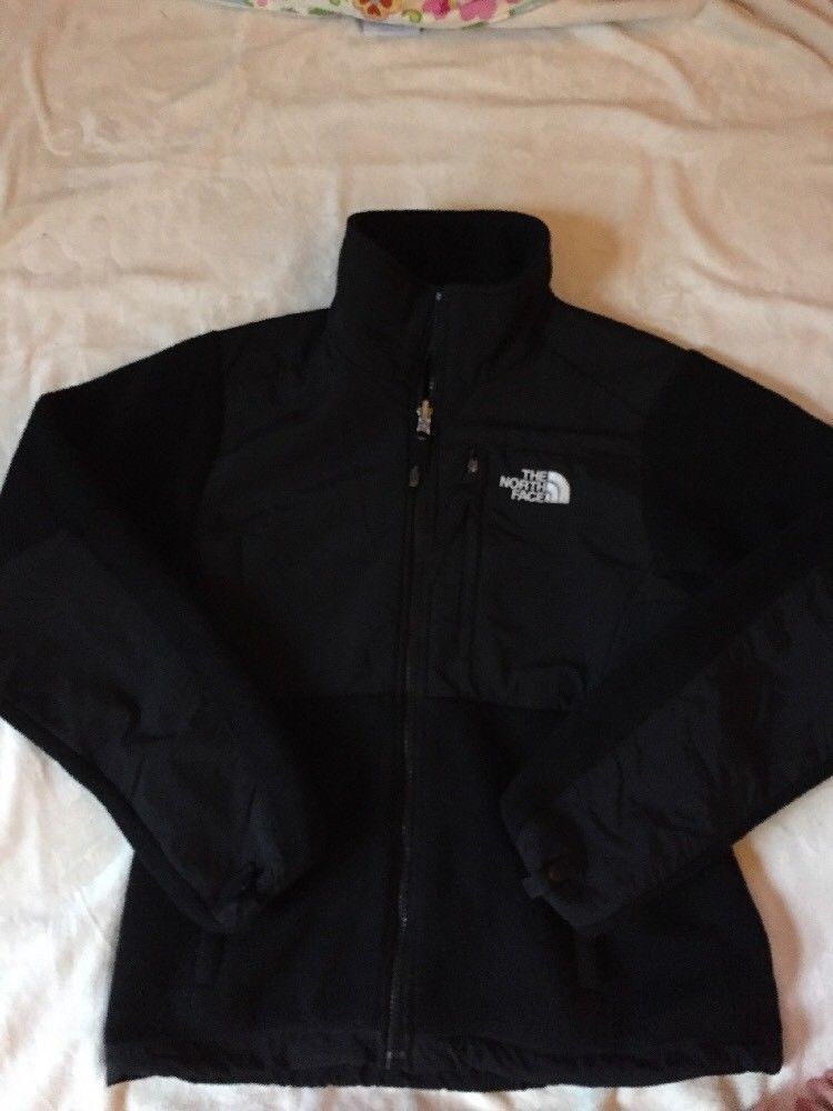 523b1eeb0 The North Face Black Denali Polartec Classic Fleece Jacket Womens XS ...