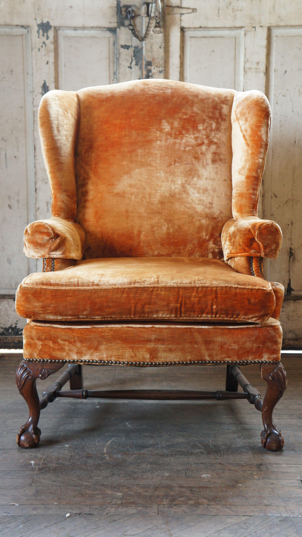 Rust Wingback Armchair Armchair Wingback Armchair Chair