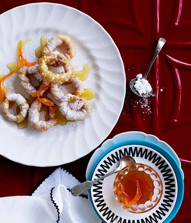 Fried pastries with orange scented honey recipe spanish desserts australian gourmet traveller spanish dessert recipe for fried pastries with orange scented honey forumfinder Image collections