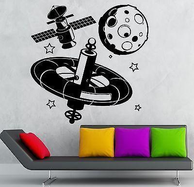 Wall Sticker Vinyl Decal Astronaut Space Moon Planet