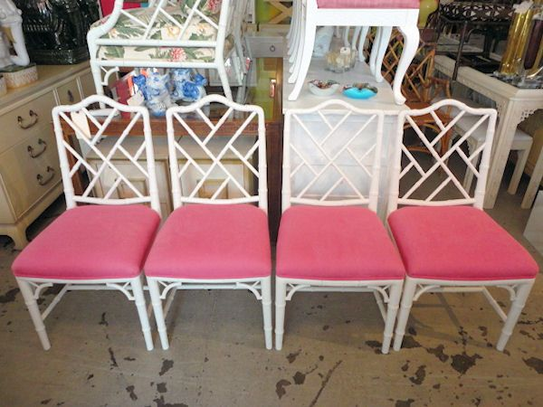 Faux Bamboo Chippendale Chairs Circa Who Furniture New Arrivals