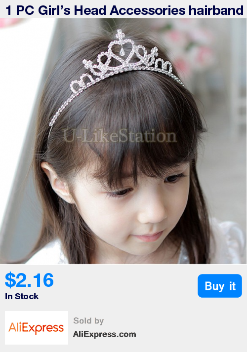 1 PC Girl s Head Accessories hairband Baby Princess Queen Rhinestone Tiara  Hair Band Headband Kids Elastic Flower Crown Headwear   Pub Date  04 24 Feb  10 ... b7a59bbb5218