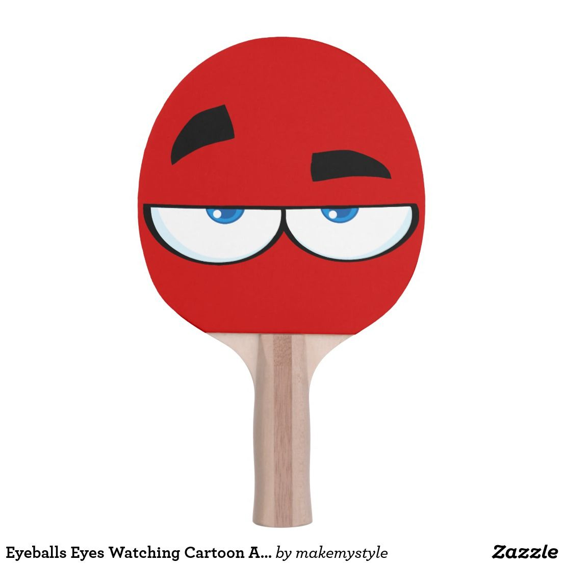 Eyeballs Eyes Watching Cartoon Art Sports Ping Pong Paddle Zazzle Com In 2020
