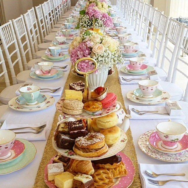 English Tea Party Decorations: Royal Albert Afternoon Tea, Polka Rose, Cheeky Pink