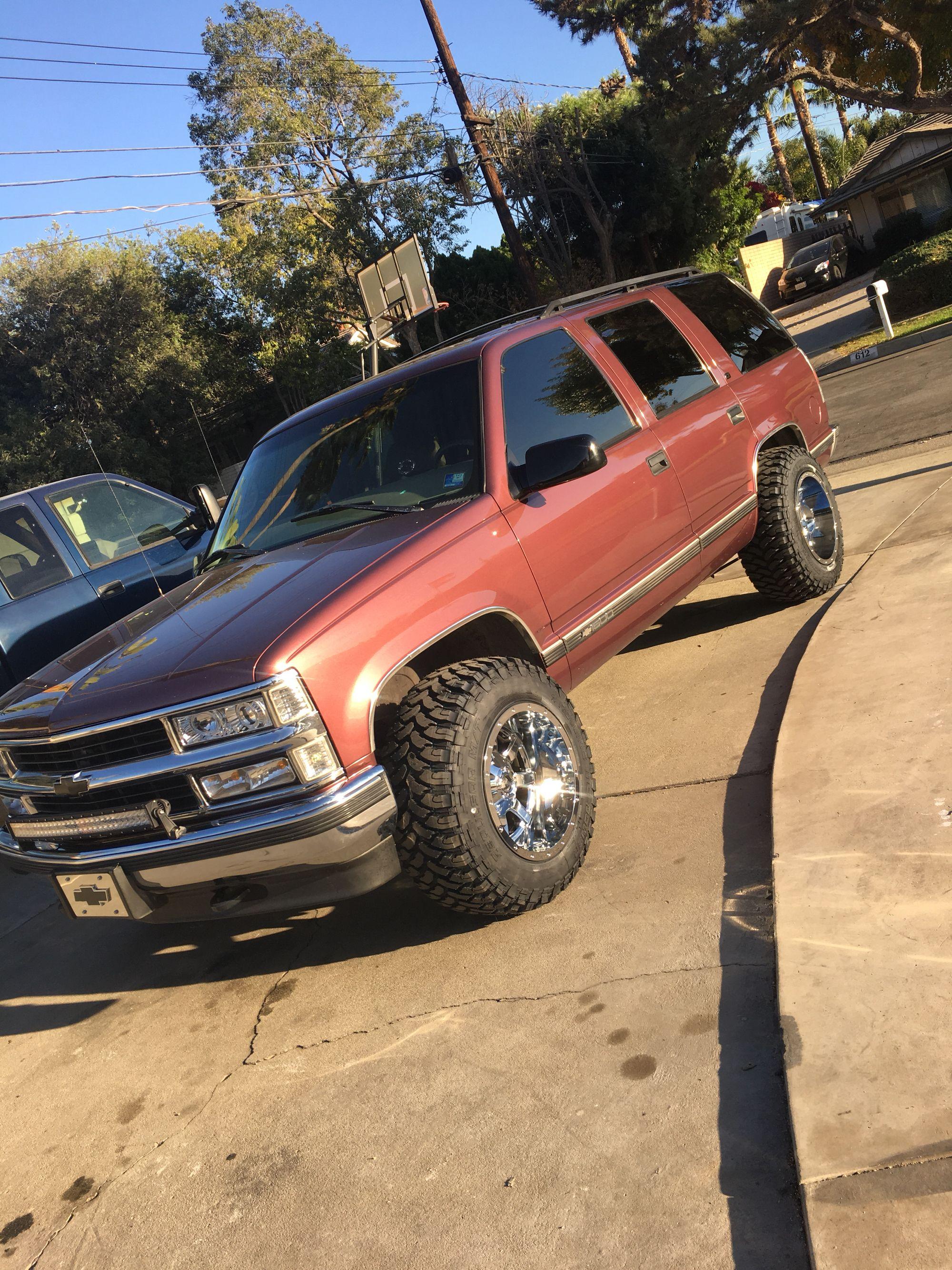 97 Chevrolet Tahoe Maroon Hoe Chevy Tahoe Chevrolet Tahoe