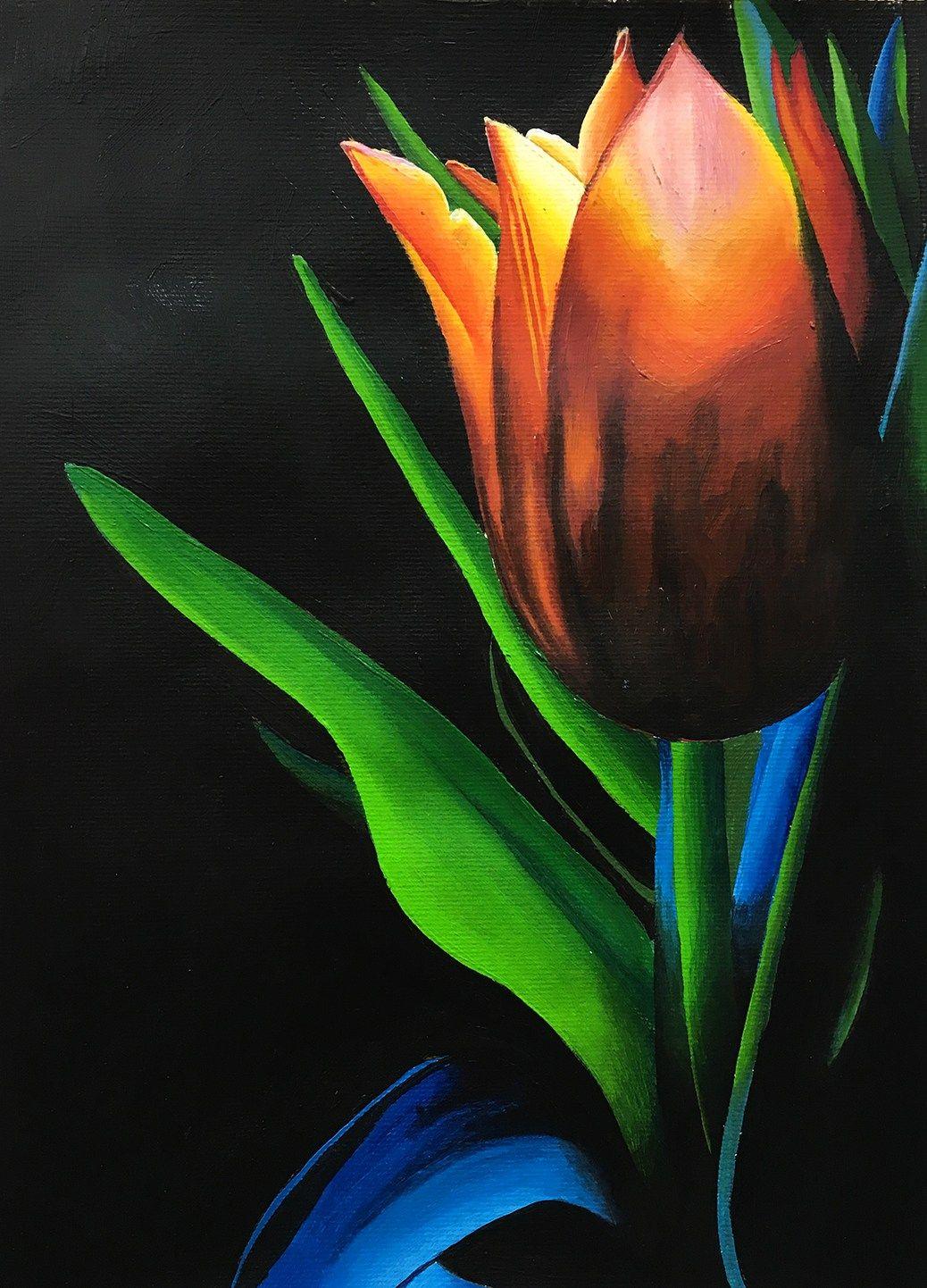 Degranero Pintar Flores Con Acrilico Cuadros Abstractos Acrilicos Dibujos Acrilicos Flores Pintadas