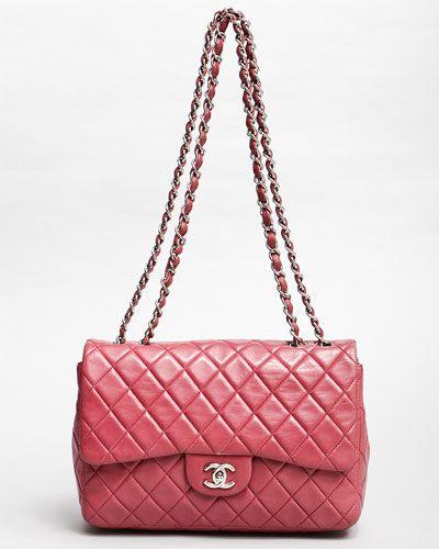 008be68649a4 Chanel Raspberry Lambskin Jumbo Classic 2.55 Flap Bag | purse lady ...
