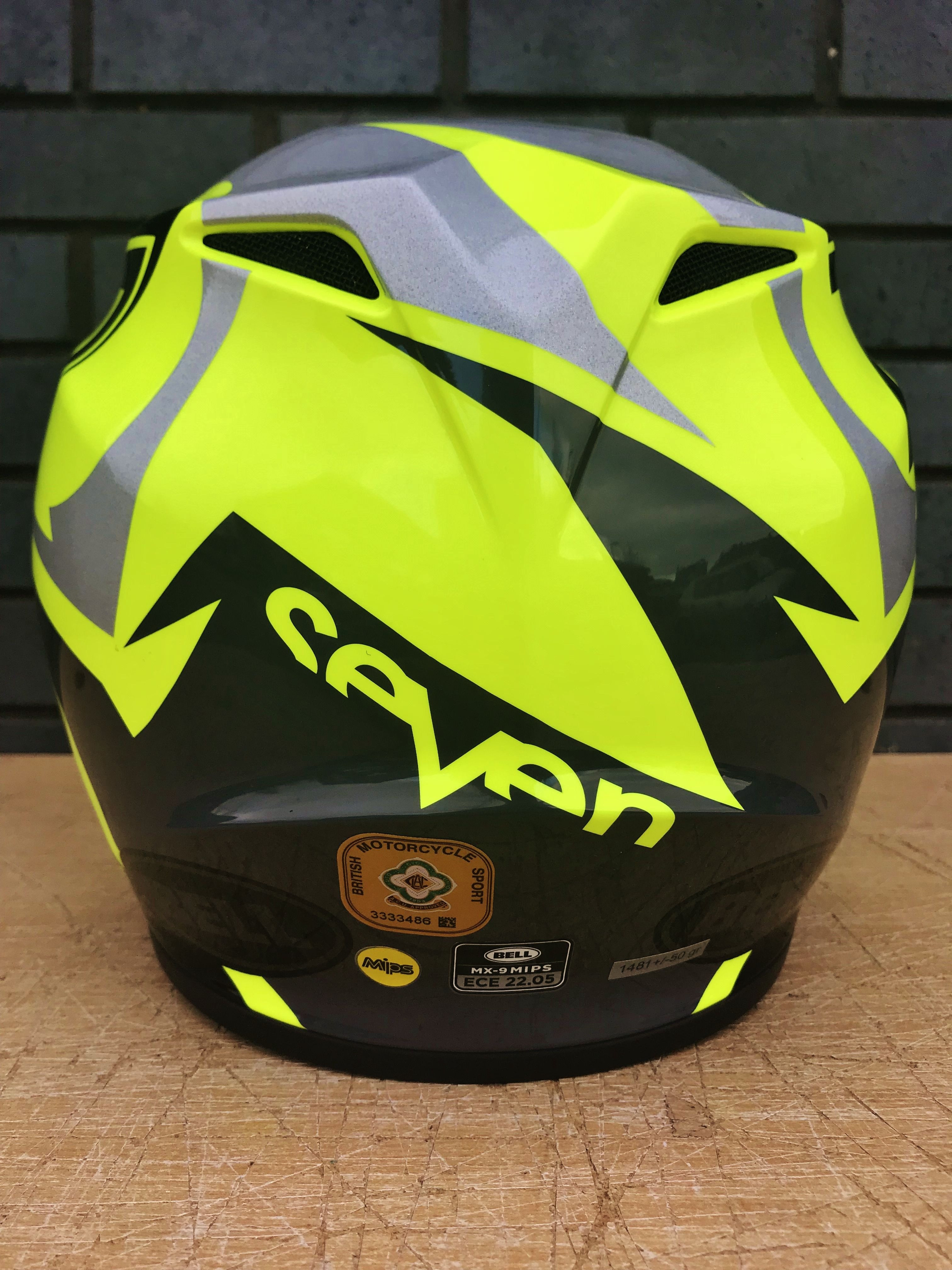 Bell MX9 MIPS Helmet - Seven Ignite Flo Yellow Black  ed51855d79b