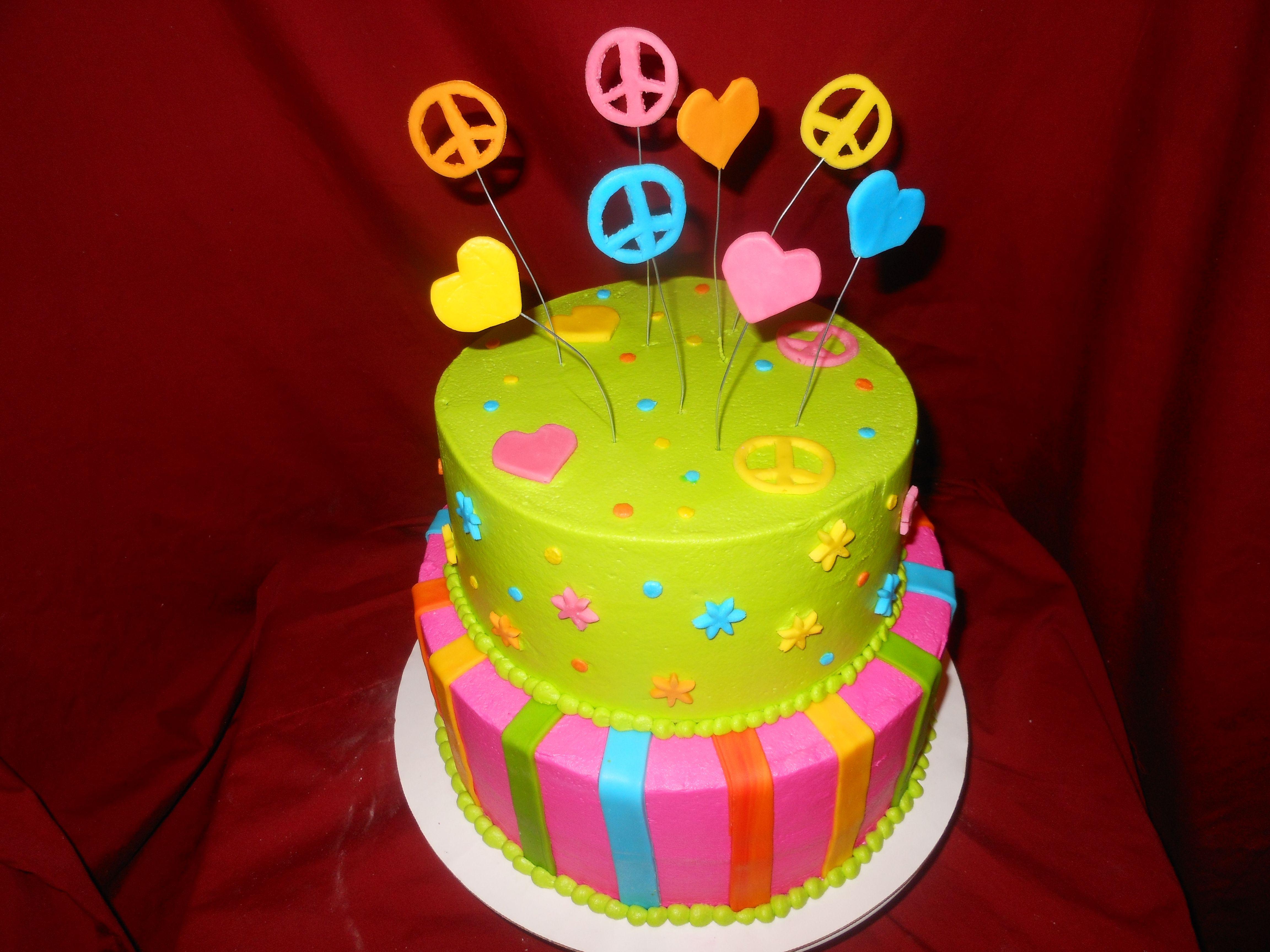 60s Cake From Dream Katcher Cakes Amarillo Tx 806 444 3322