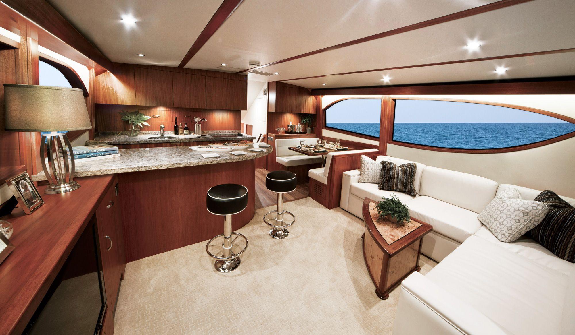 Hatteras Motor Yacht Interior Yacht Charter & Superyacht News