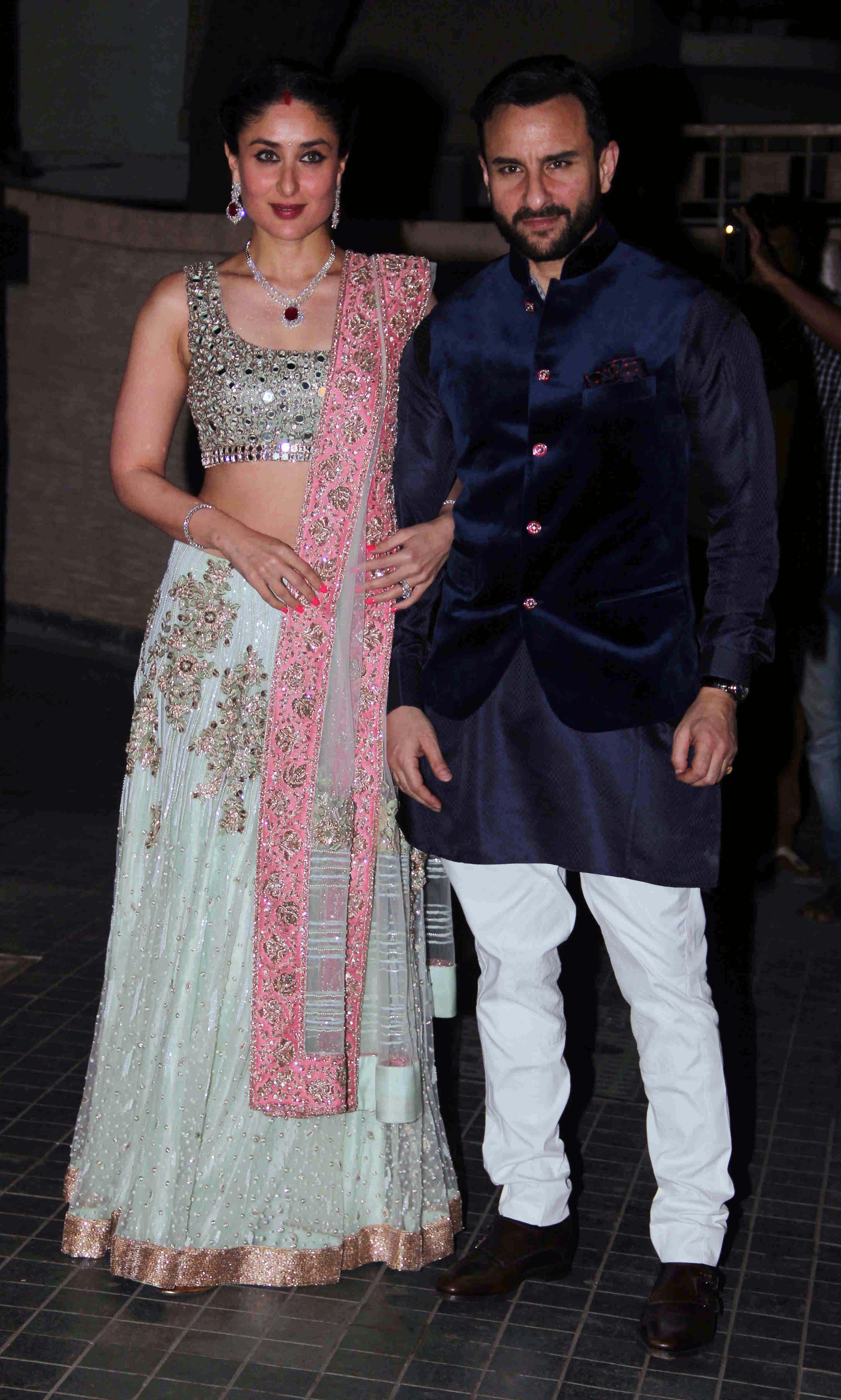 Kareena Kapoor With Saif Ali In Ghagra Choli