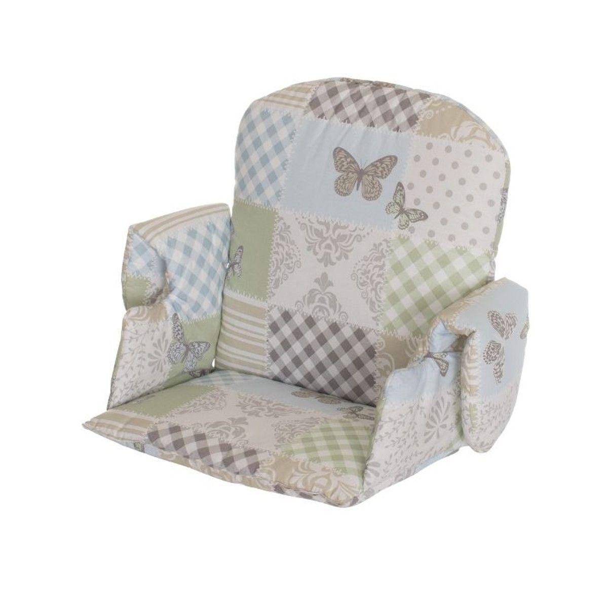 Reducteur Avec Accoudoir Pour Chaise Haute Tissus Patchwork
