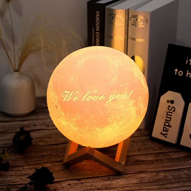 Customized 3d Photo Printed Moon Light Valentine Gift Usb Charger In 2020 Everlasting Light Mould Design Gifts For Family
