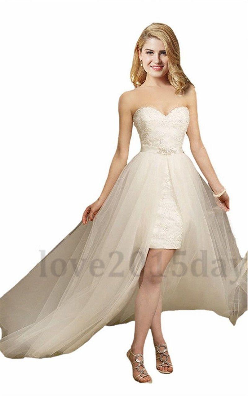 Nice awesome sexy short beach wedding dresses sheath bridal gowns