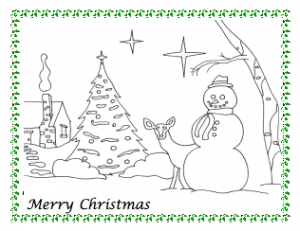 Snowman Christmas Coloring Page | coloring pages | Pinterest ...
